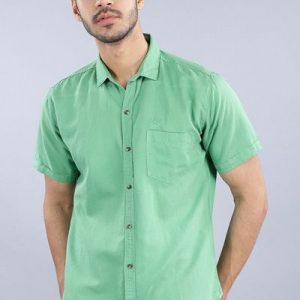 Driftwood Men Solid Green Casual Shirt