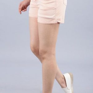 Viveza Women Solid Pink Shorts