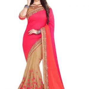 Ayesha Takia Multi Color Chiffon With Jacquard Replica Saree