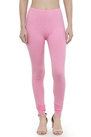Light-Pink Color 4 Way Cotton Lycra Churidar Leggings