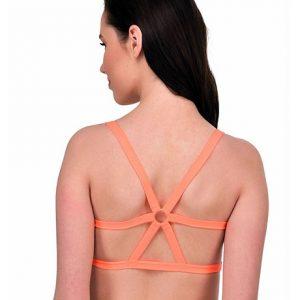 Orange Color Celebrity Style Fashion Women's Sports Bra