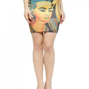 Multi Color Egyptian Charming Girl Mini Skirt