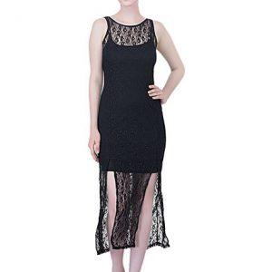 Black Color Sleeveless Black Maxi Dress