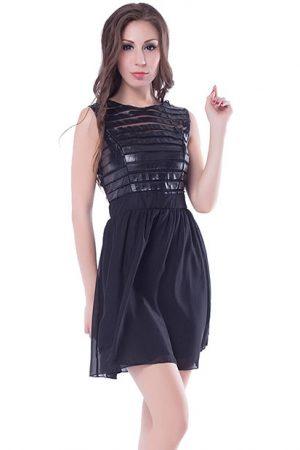 Black Color Beautiful Black Mini Dress