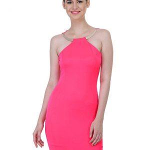 Pink Color Pink Colored Shift Dress