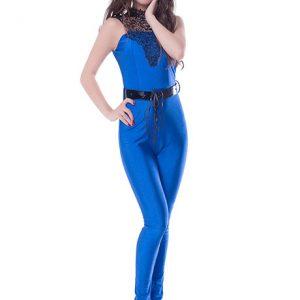Blue Color Blue colored solid jumpsuit