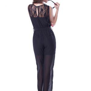 Black Color Black Lace Jumpsuit