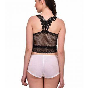 Black Color Lace Crop Top