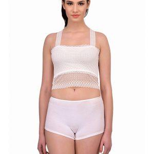 White Color Lace Crop Top