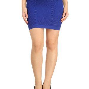 Blue Thick Fold Strap Mini Skirt