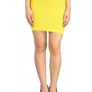 Yellow Thick Fold Strap Mini Skirt