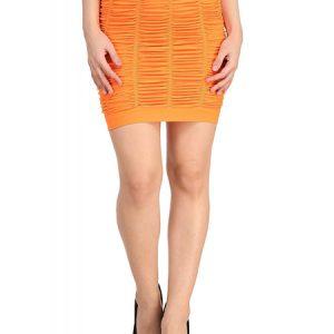 Thick Fold Strap Mini Skirt