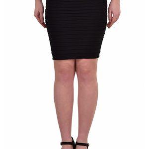 Black Color Thick Fold Strap Mini Skirt