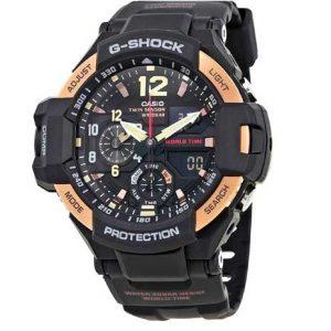 Casio G726 G-Shock Gravitymaster Series Ga-1100Rg-1A Chronograph Black Resin Band Gents Wrist Watch