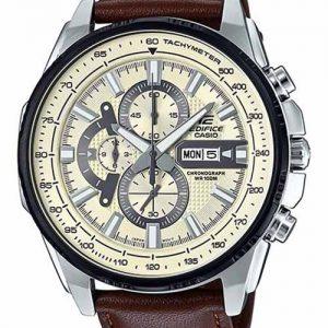 Casio Ex336 Edifice Series Efr-549L-7Bvudf Brown Leather Chronograph Gents Wrist Watch