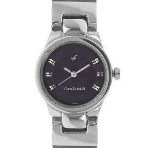 Fastrack 6114Sl03 Purple Round Analog Watch-6114Sl03