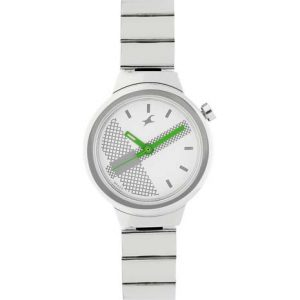 Fastrack Checkmate Off White Dial Analog Watch For Women Nj6149Sm03