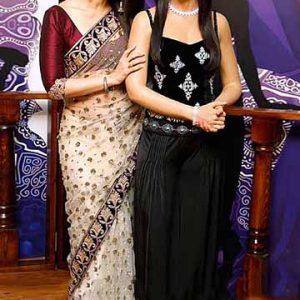 Karina Kapoor Off White Net Saree