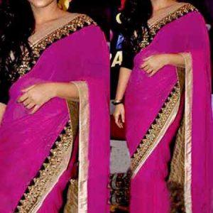 Vidha Balan Pink Stylish Bollywood Designer Lilan Saree