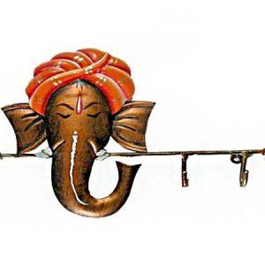 Ganesha Key Hanger 2 Wrought Iron Handicraft Wall Hanging Showpiece
