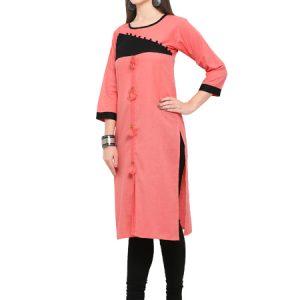 Velentino Cotton Pink Kurti