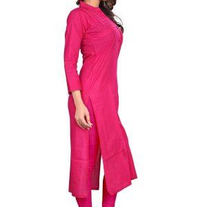Velentino Pink Camric Cotton Kurti