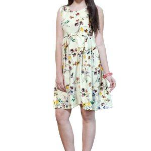 Velentino Multicolor American Crepe Dress