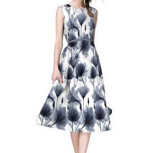 Velentino White & Black Japan Satin Dress