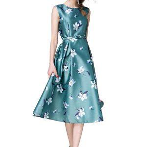 Velentino Teal Japan Satin Dress