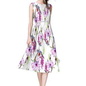 Velentino Multicolor Japan Satin Dress