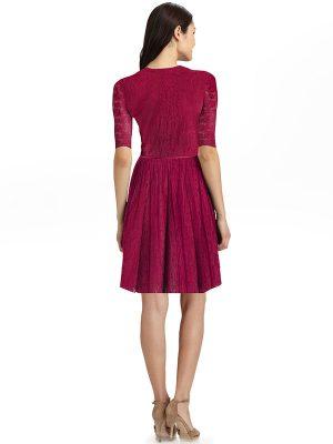 Designer Maroon Dress