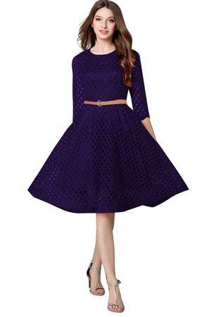 Exclusive Designer Navy Blue Dress