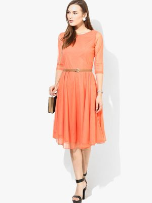 Exclusive Designer Orange Dress