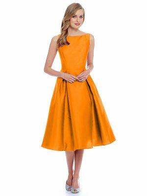 Designer Orange Dress