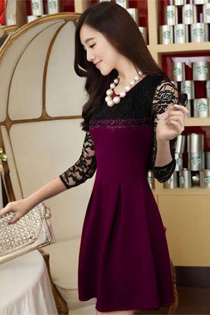 Exclusive Designer Wine Dress