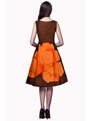 Exclusive Designer Orange Dress