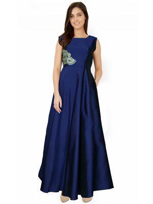 Designer Blue Gown