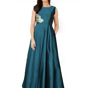 Designer Sea Green Gown