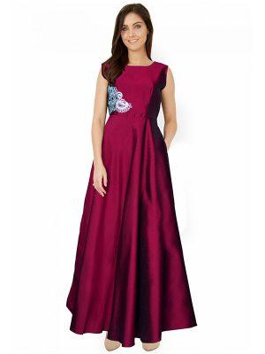 Designer Sea Pink Gown