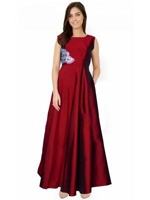 Designer Maroon Gown