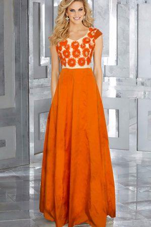 Exclusive Designer Ferrari Orange Gown