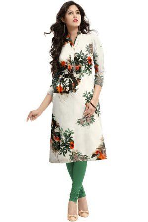 Exclusive Designer Cream Kurti
