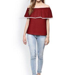 Maroon Knitting Exclusive Designer Top