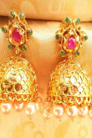 Multi-Color Antique Jhumkas