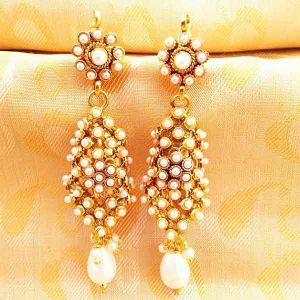 White Kemp Earrings