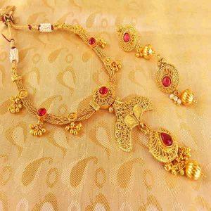 Pink Kemp Designer Necklace Set