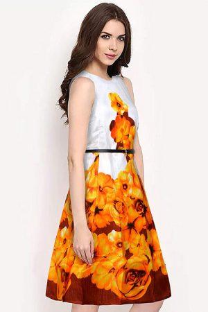 Exclusive Designer Yellow Dress