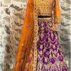 Royal Blue Color Wedding Wear Heavy Bridal Jarman Silk Embroidery Lehenga Choli With Dupatta