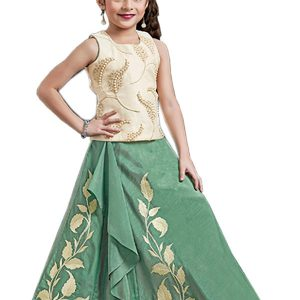 Cream Color Phantom Embroidered & Stone Work Lehenga Choli
