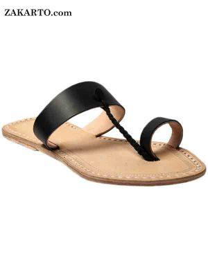 Good Looking Black Sandal For Ladies